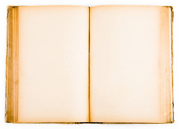 Isolated old book (blank pages) stock photo