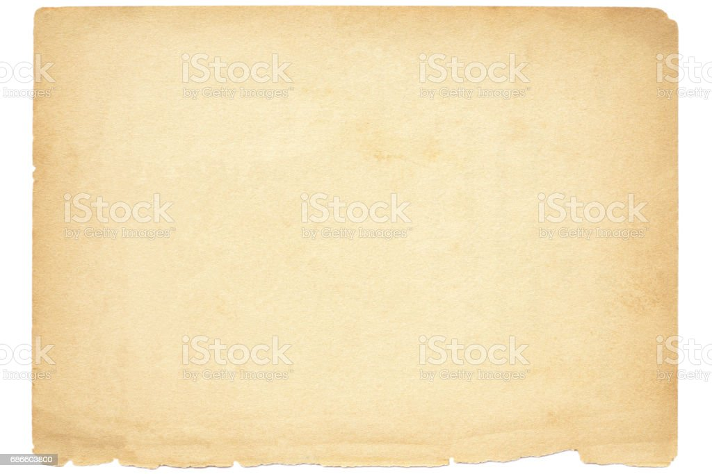 Isolated old brown paper texture royalty-free stock photo
