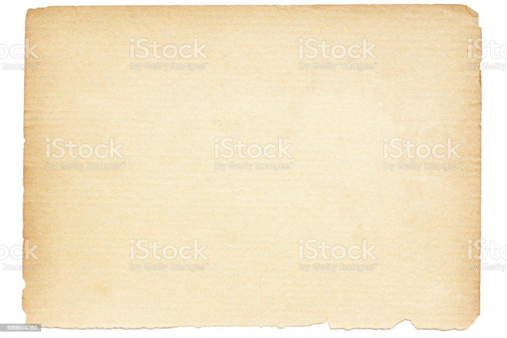 Isolierte alte braune Papierstruktur – Foto