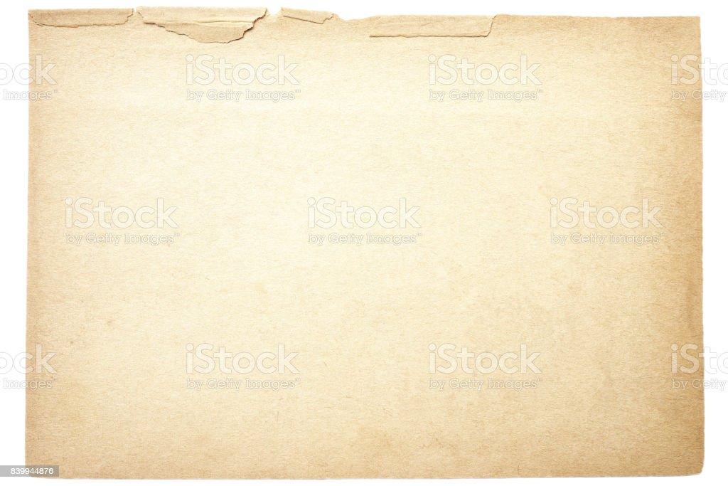 Textura de papel velho isolado - foto de acervo