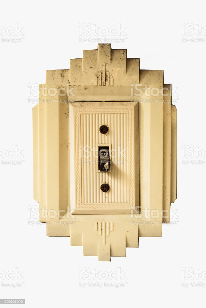 Isolated Old Light Switch royalty-free stock photo