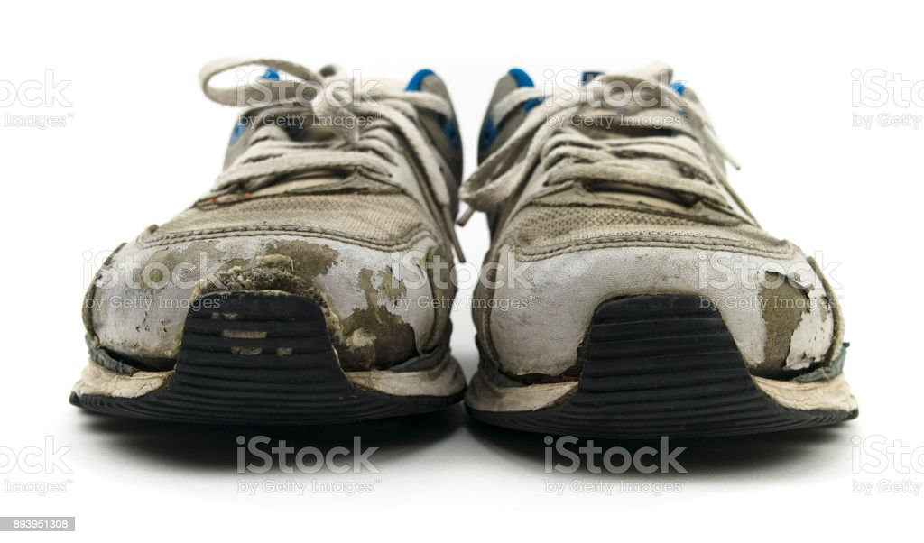 Isolated Old, Sneaker Shoes stock photo