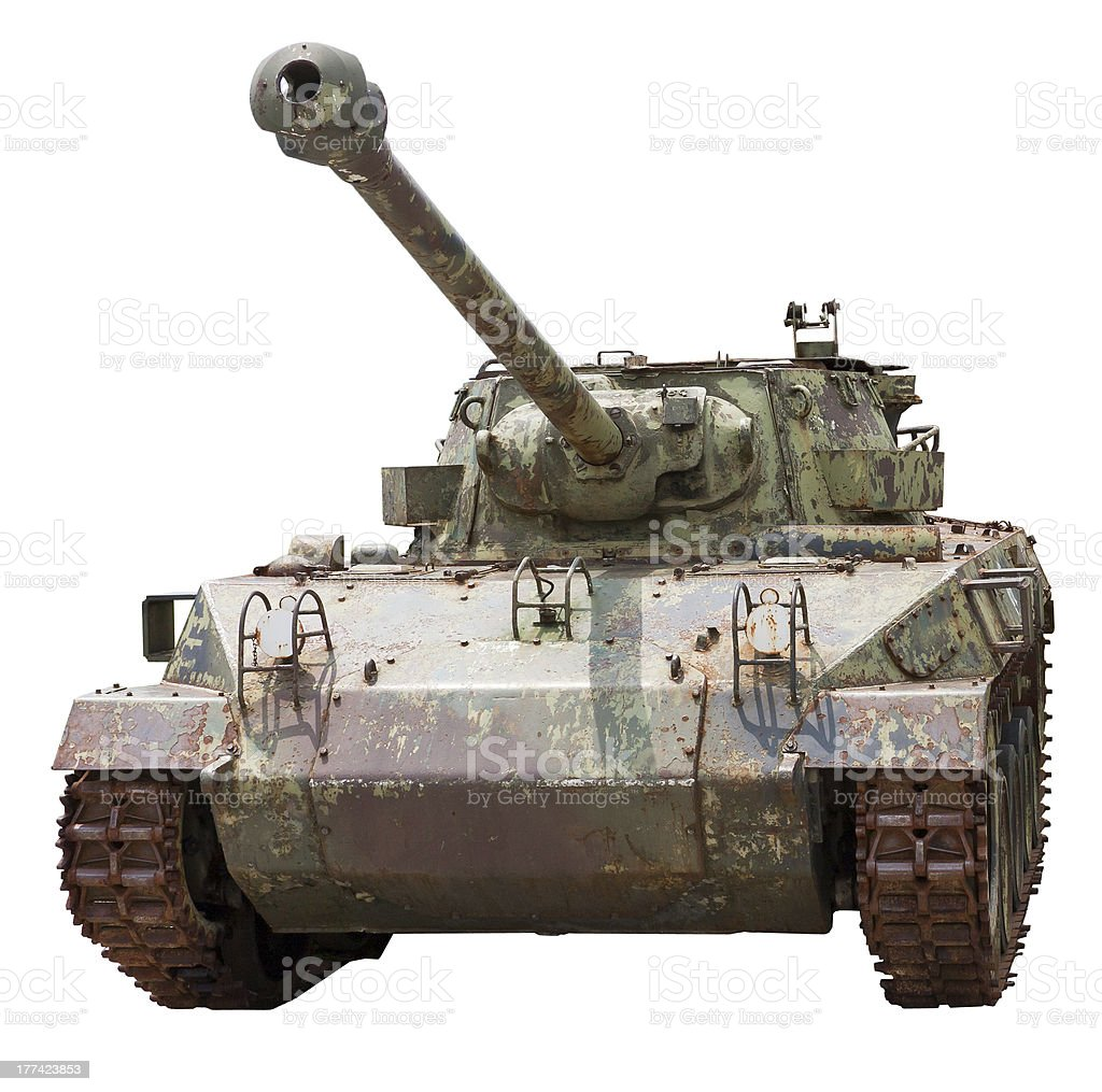 Isolated old tank M18 Hellcat stock photo