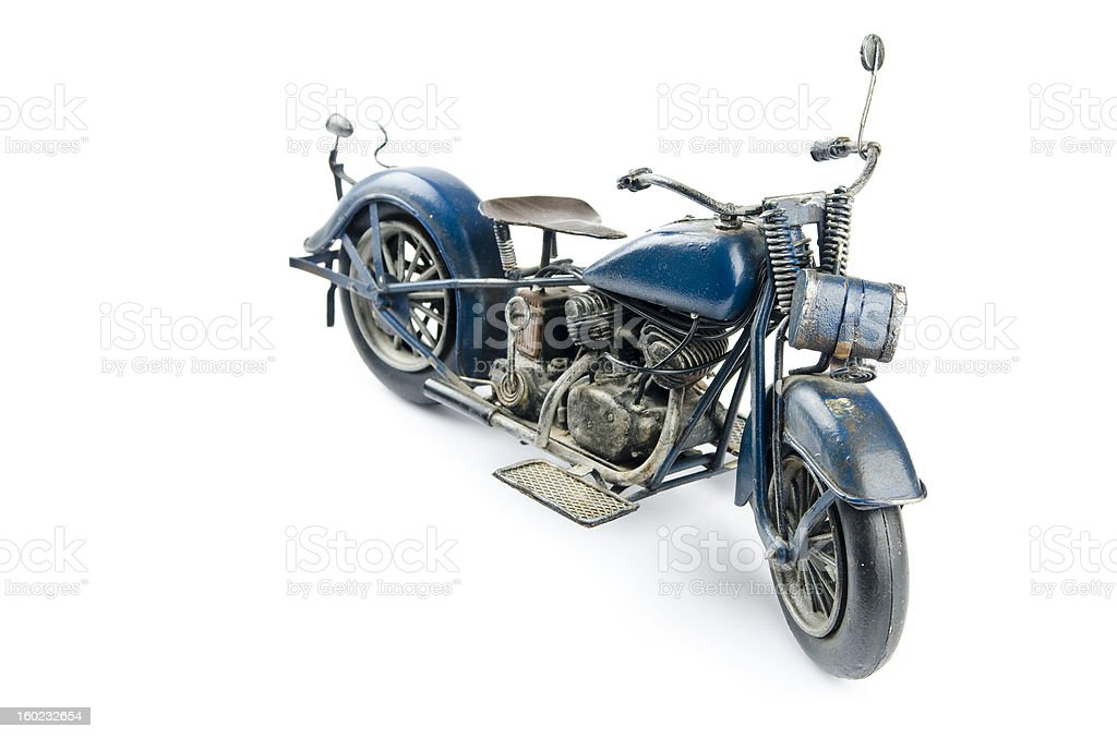 Isolated Old Toy Motorcycle royalty-free stock photo