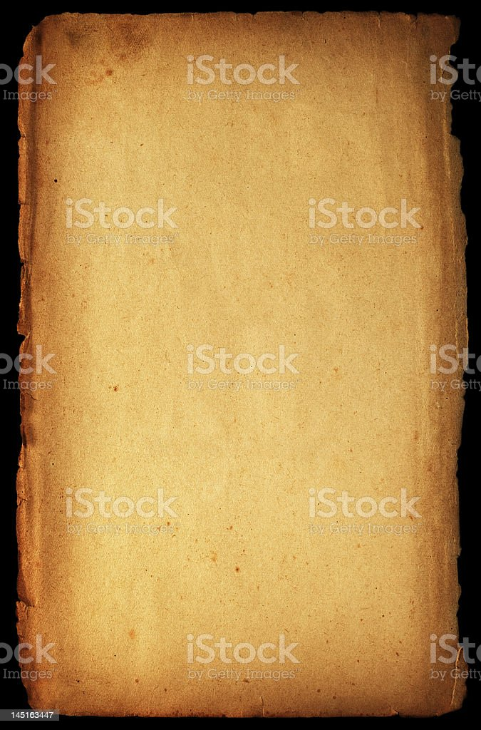 Isolated old-fashioned paper royalty-free stock photo