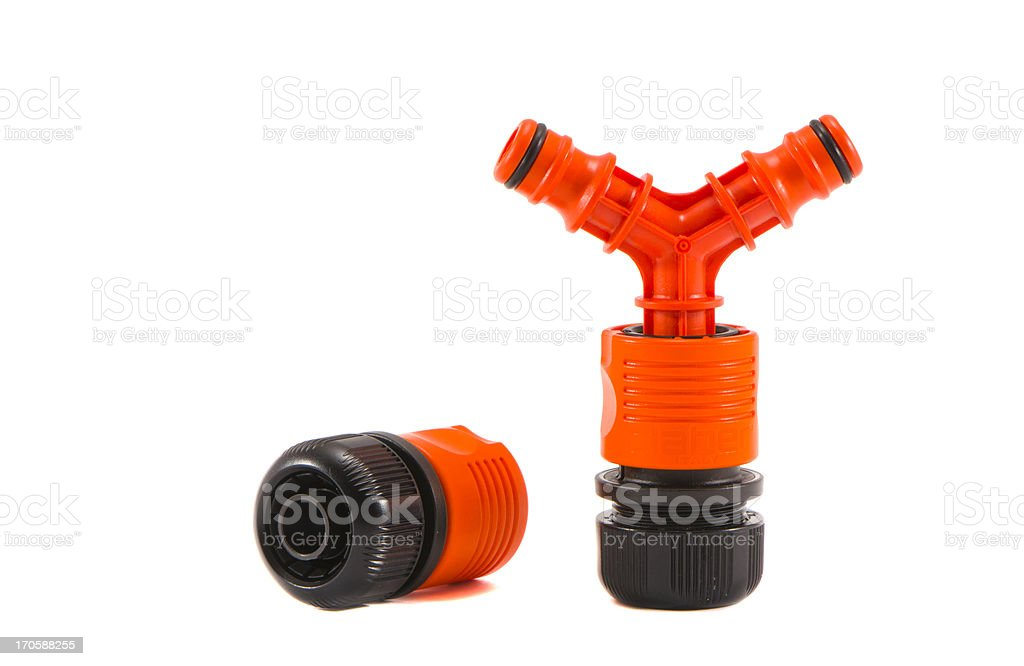 isolated on white garden watering pipe royalty-free stock photo