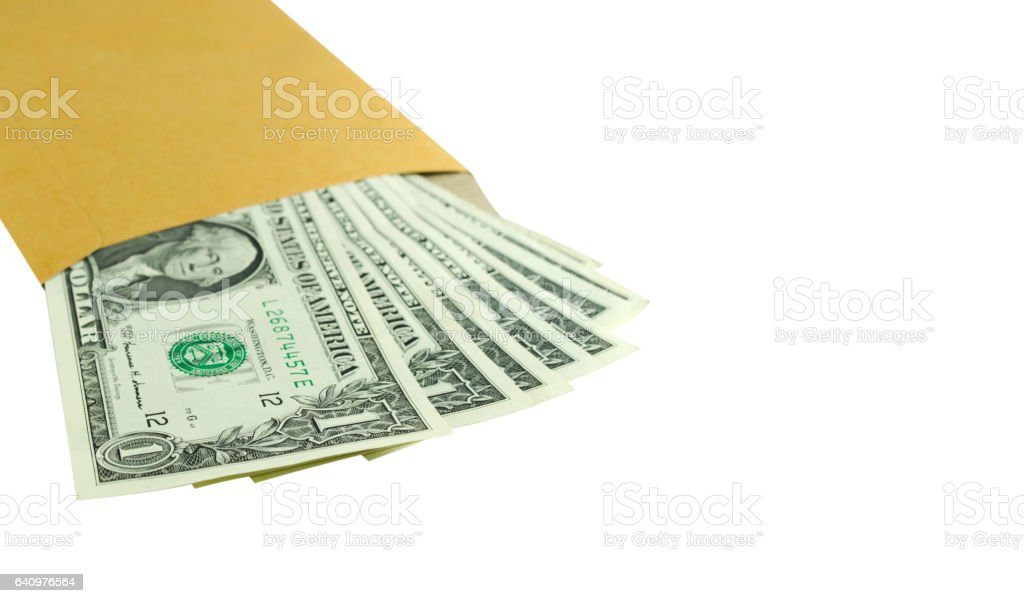 Isolated one dollar banknote on a white background stock photo