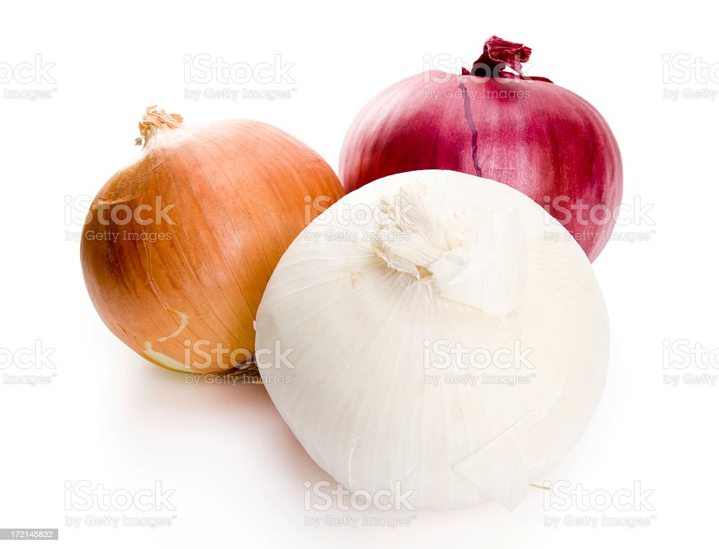 Isolated Onions  Bright Stock Photo