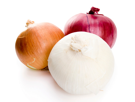 Isolated Onions Stock Photo - Download Image Now