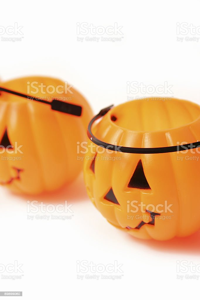 Isolated Orange Pumpkin royalty-free stock photo