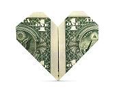 istock Isolated Origami Heart 827359662