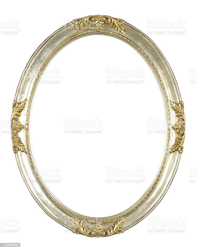 isolated oval frame royalty-free stock photo