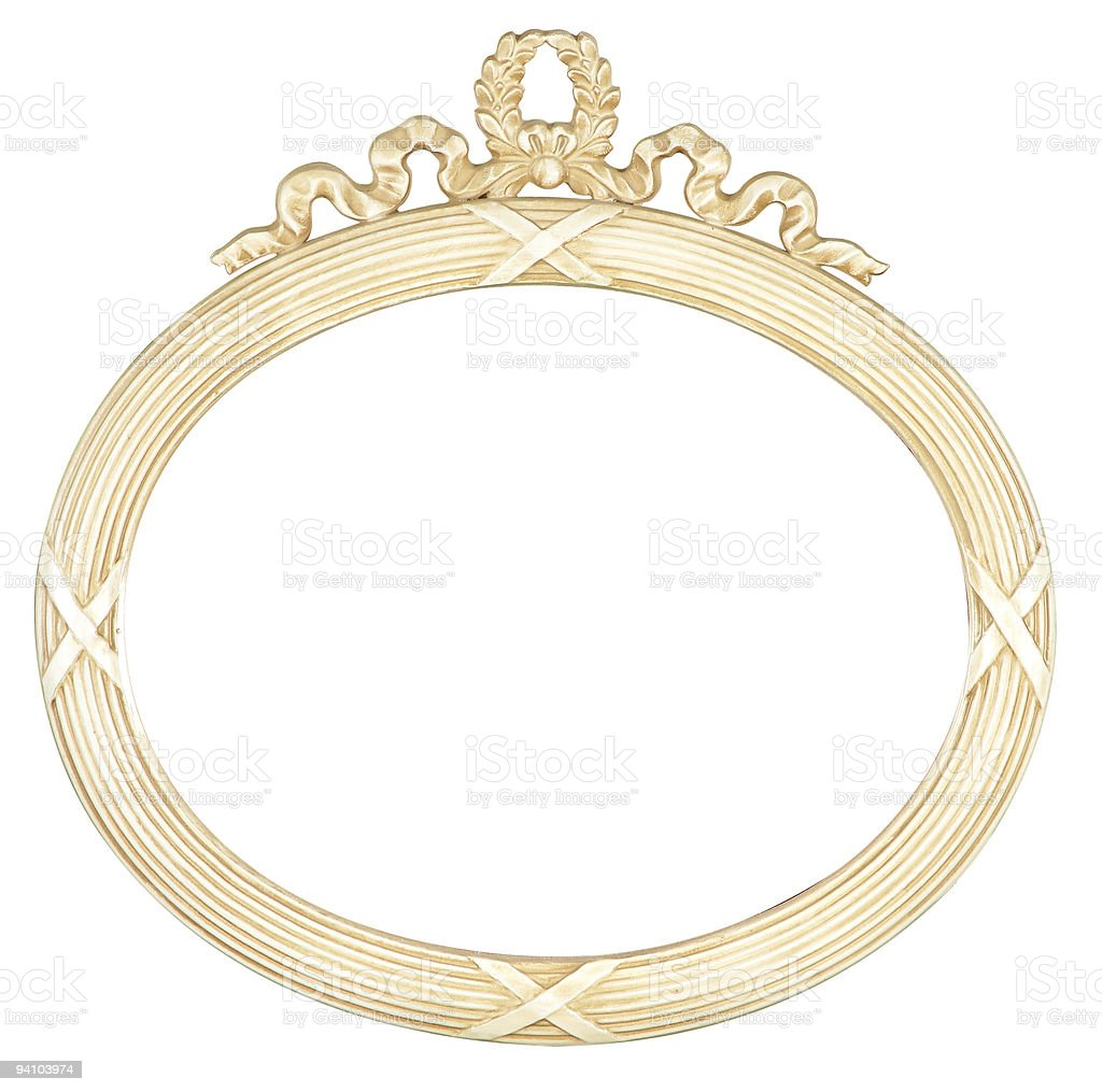 isolated oval mirror frame royalty-free stock photo