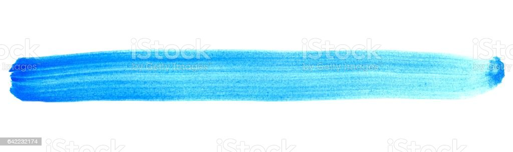 Isolated painted stripe blue stock photo