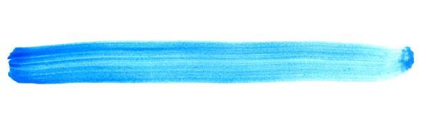 isolierte bemalten streifen blau - foto tusche stock-fotos und bilder