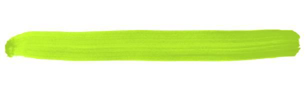 isolierte bemalten streifen grün - foto tusche stock-fotos und bilder