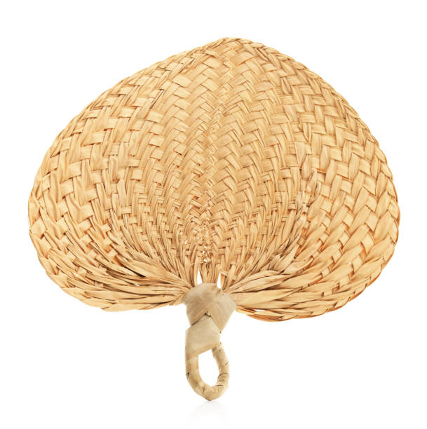 Isolated Palm Straw Fan stock photo