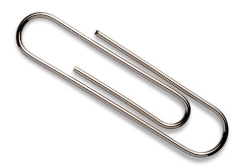 paper clip with cliping path