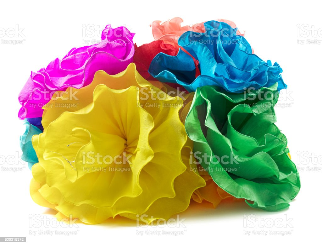 Isolated Paper Flowers Stock Photo More Pictures Of Art And Craft