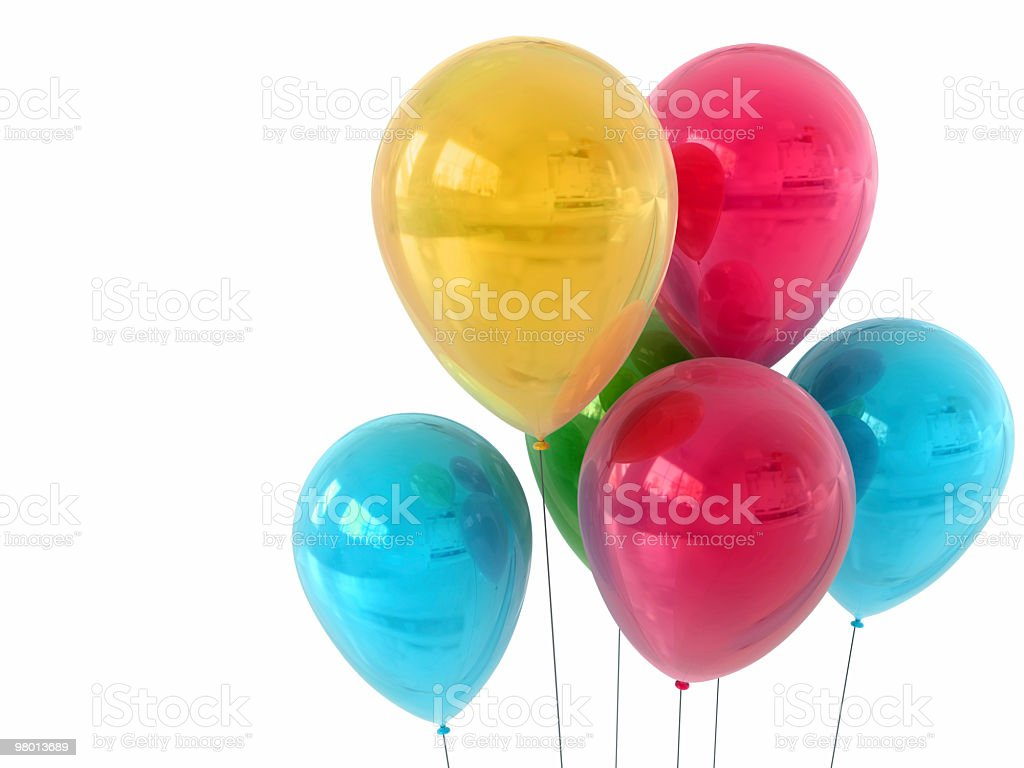 Isolated Party Balloons royalty free stockfoto