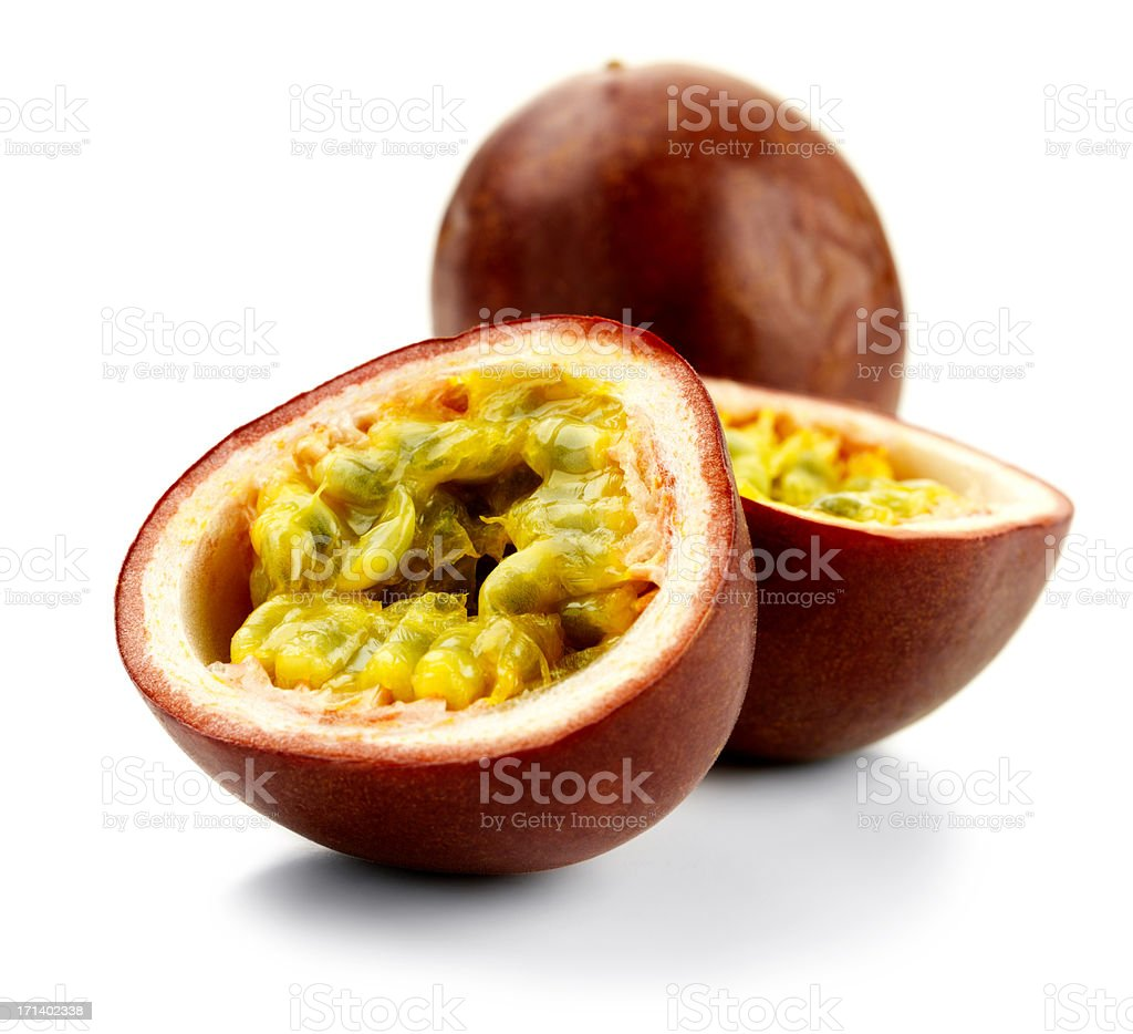 Isolated passionfruit royalty-free stock photo