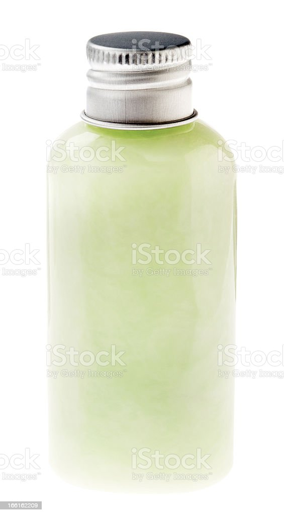 Isolated Pastel Green Lotion Bottle royalty-free stock photo