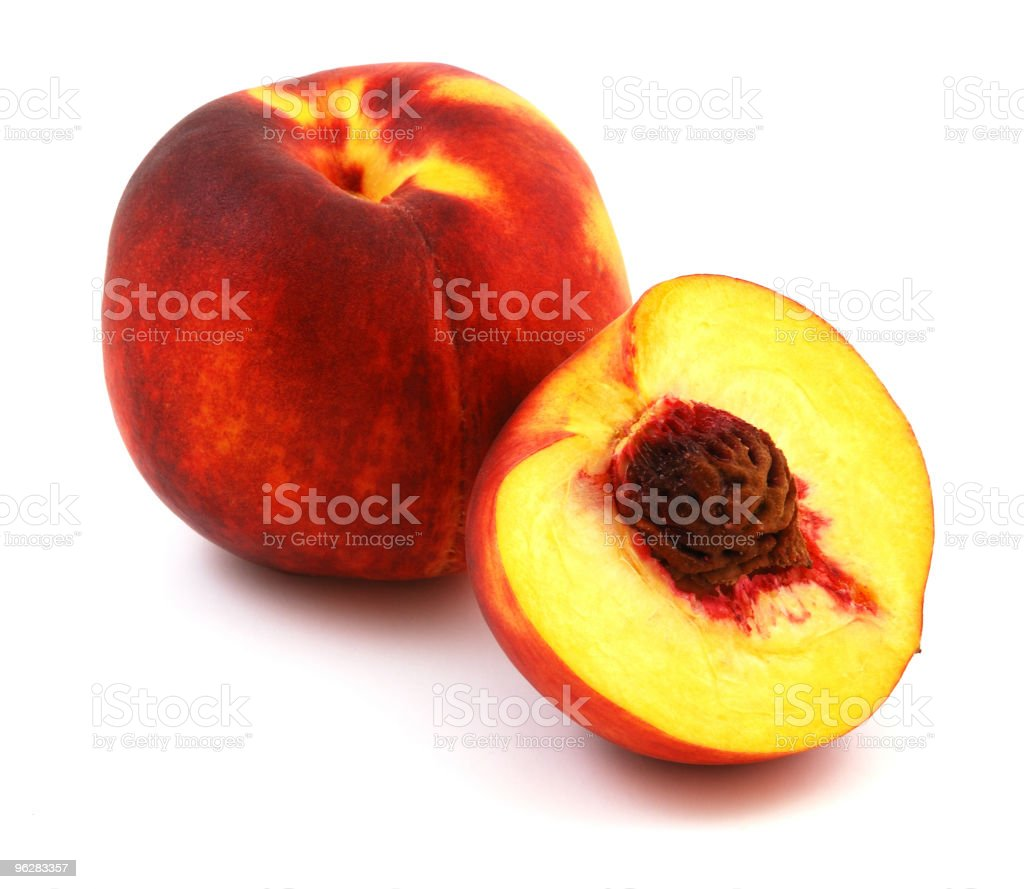 Isolated peaches royalty-free stock photo
