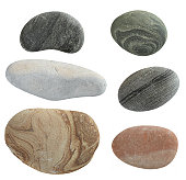 isolated pebbles stone