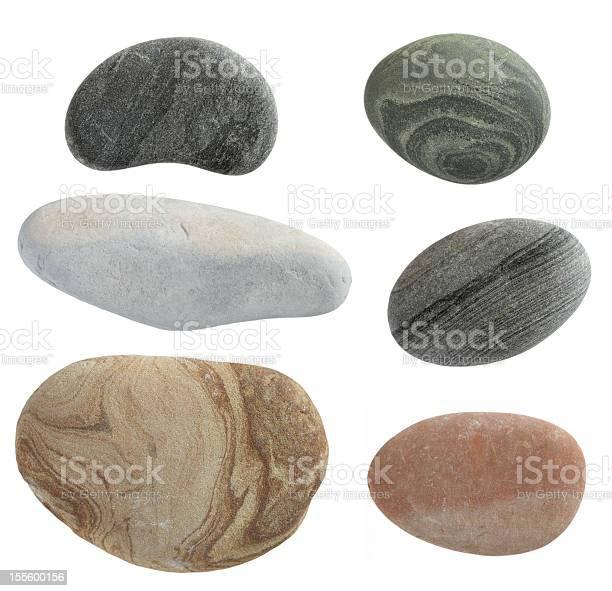 Photo of isolated pebbles stone