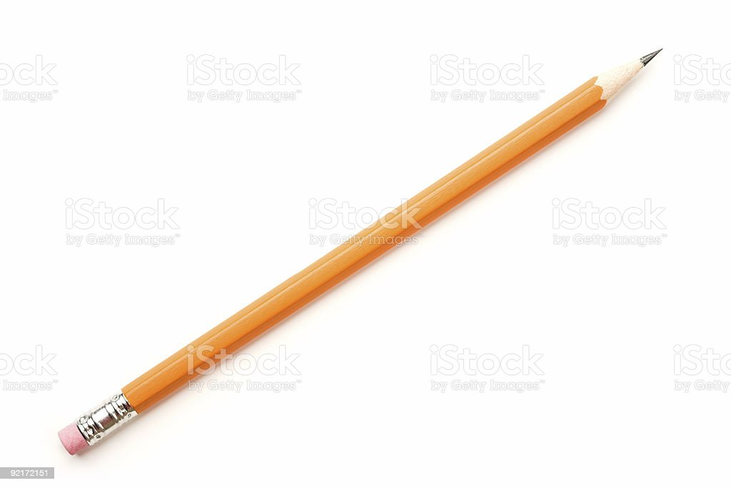 Isolated Pencil stock photo