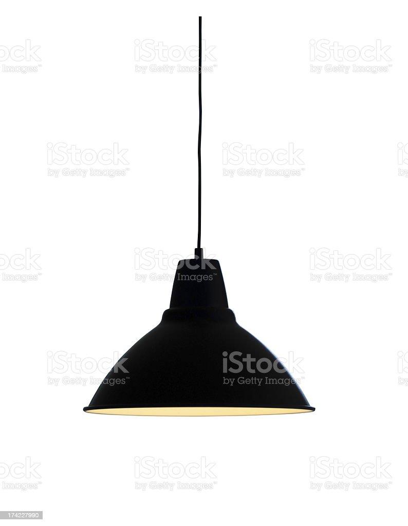 Isolated pendant lamp stock photo