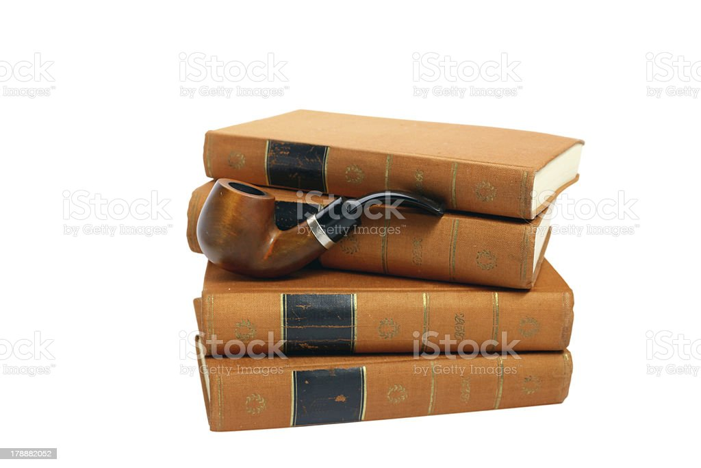 Isolated photo antique Goethe's books royalty-free stock photo
