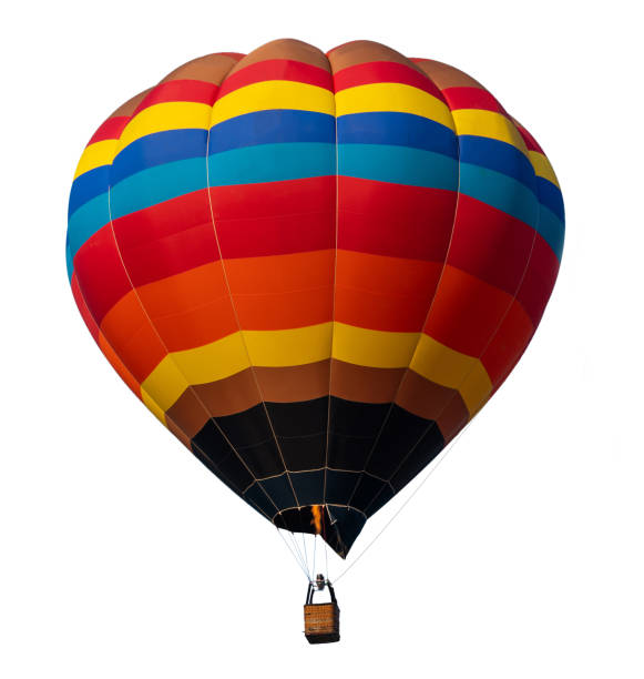 isolated photo of hot air balloon isolated on white background. - hot air balloon стоковые фото и изображения