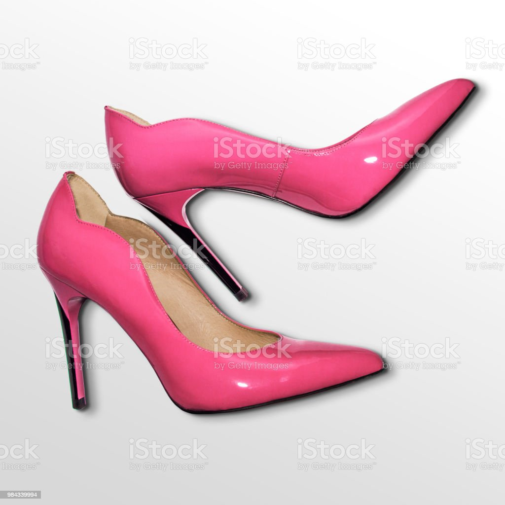 isolated photo, women's pumps shoes'n stock photo