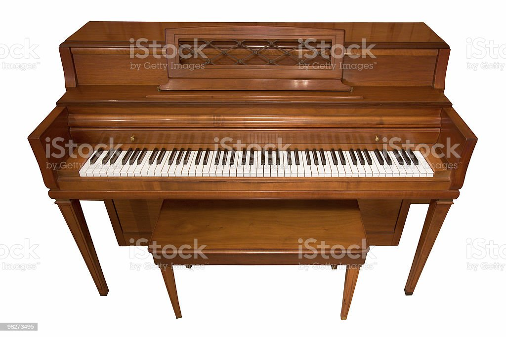 Isolated Piano (Clipping Path) royalty-free stock photo
