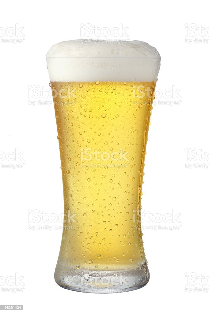 Isolated picture of a beer pint royalty-free stock photo
