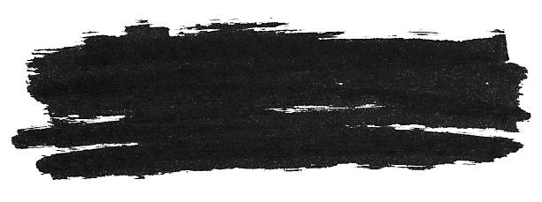 Isolated picture of a black marker streak Black marker paint texture isolated on white background brush stroke stock pictures, royalty-free photos & images