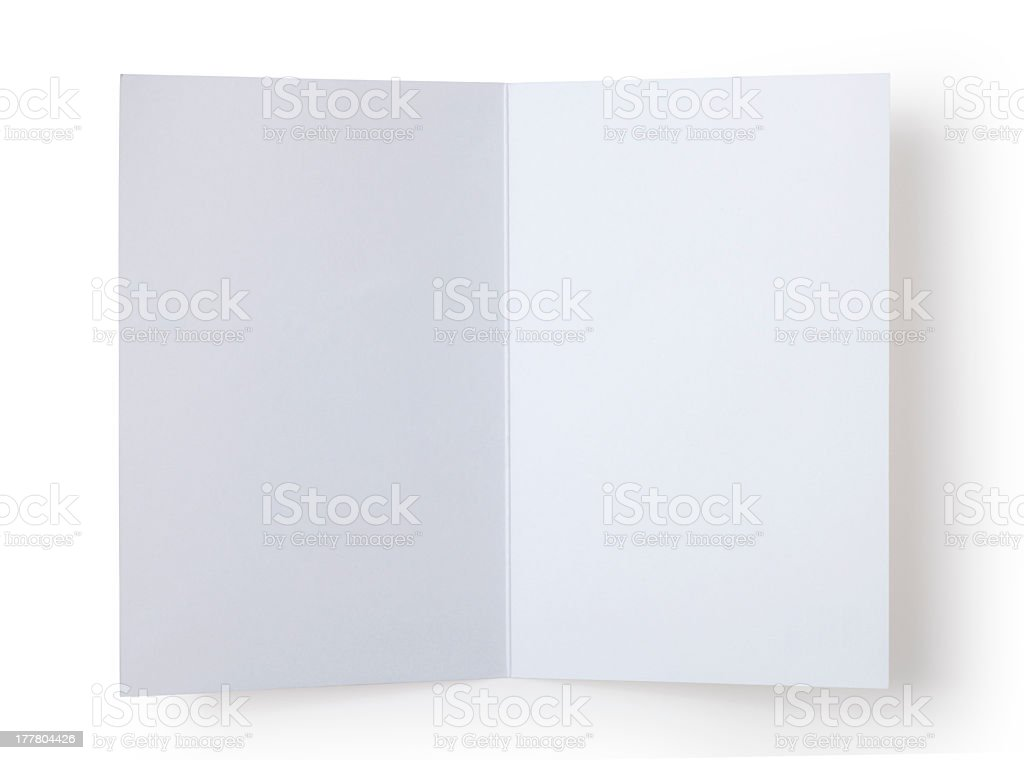 Isolated picture of a blank white card stock photo