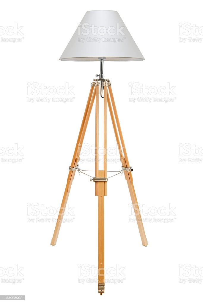Isolated picture of a floor lamp stock photo