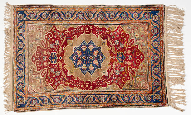 Isolated picture of a traditional middle-eastern rug Traditional rug persian culture stock pictures, royalty-free photos & images