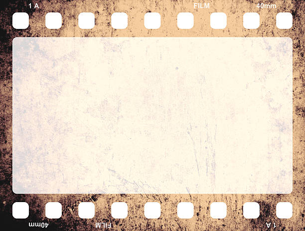 Isolated picture of an old film frame Film Frame negative image technique stock pictures, royalty-free photos & images