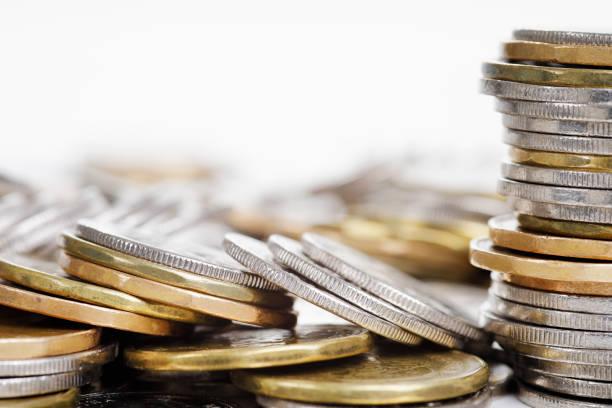 Isoliertes Bild von Münzen – Foto