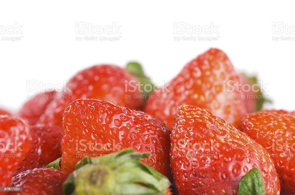 Isolated pile strawberry royalty-free stock photo