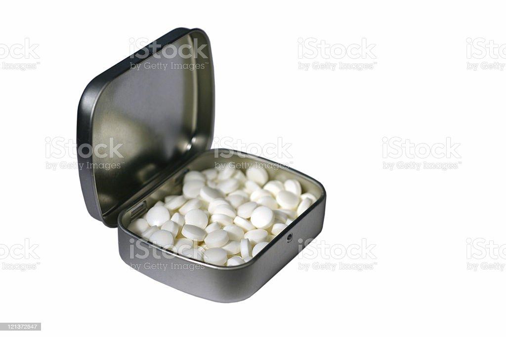 Isolated Pill Box royalty-free stock photo