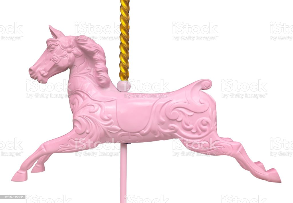 Isolated Pink Carousel Horse Stock Photo Download Image Now Istock