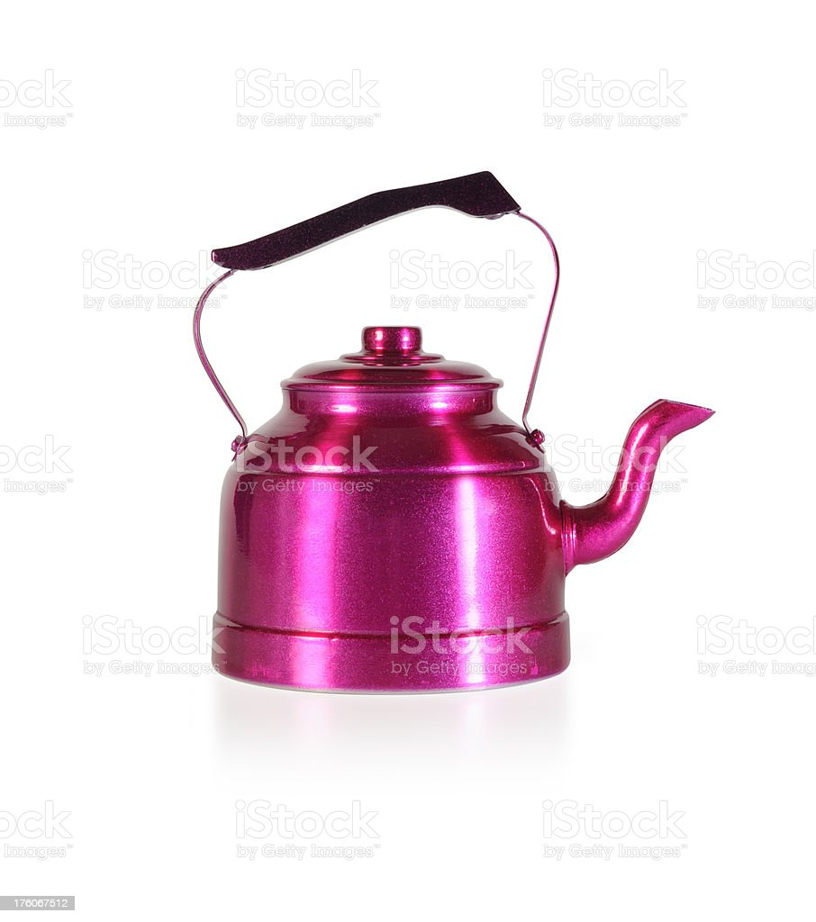 Isolated Pink Kettle royalty-free stock photo