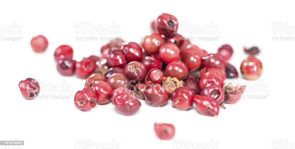 Isolated Pink Peppercorns stock photo