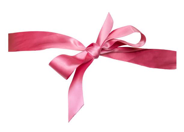 isolierte rosa schleife - knotenkleid stock-fotos und bilder