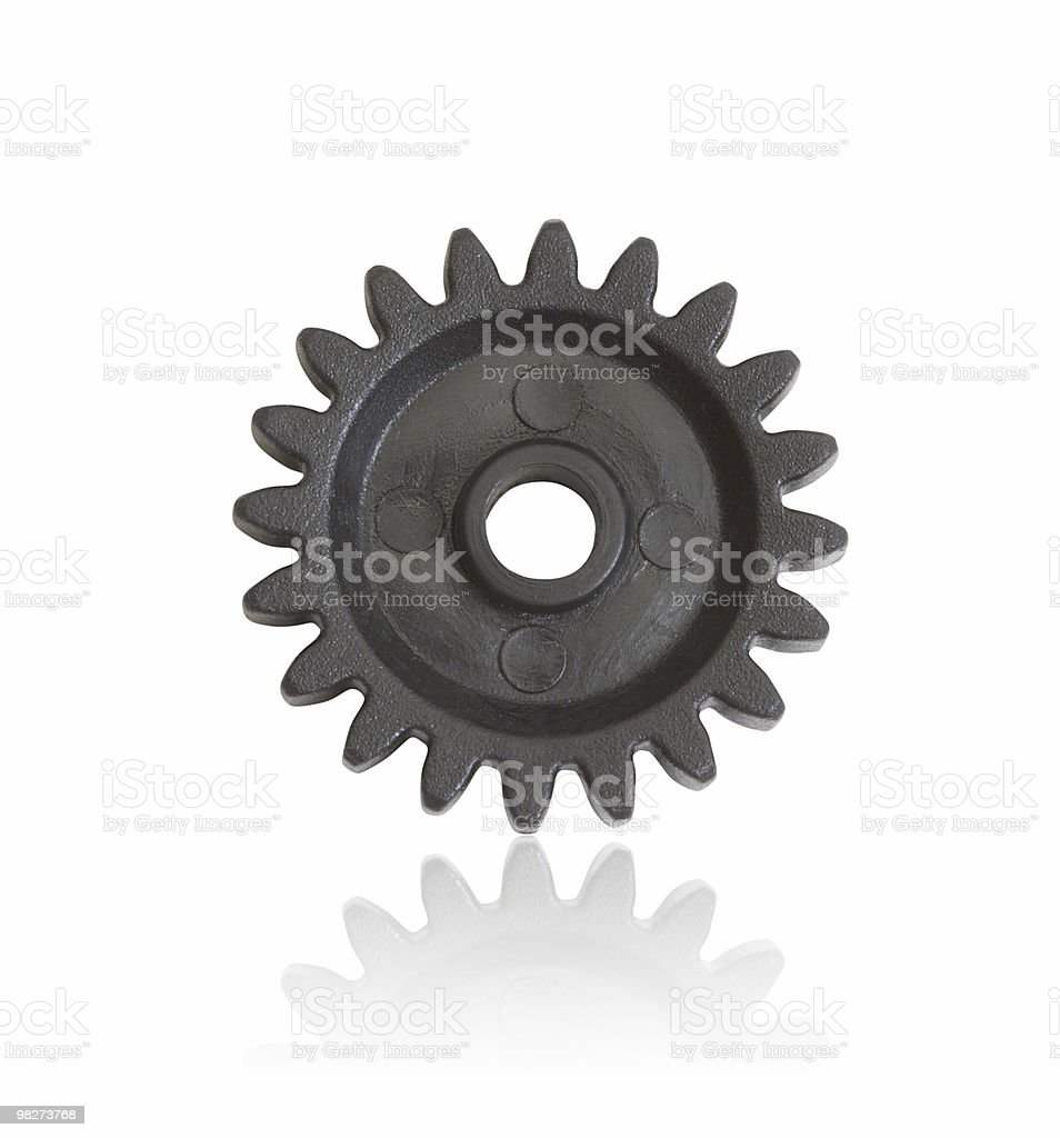 Isolated Plastic Gear (clipping path) royalty-free stock photo