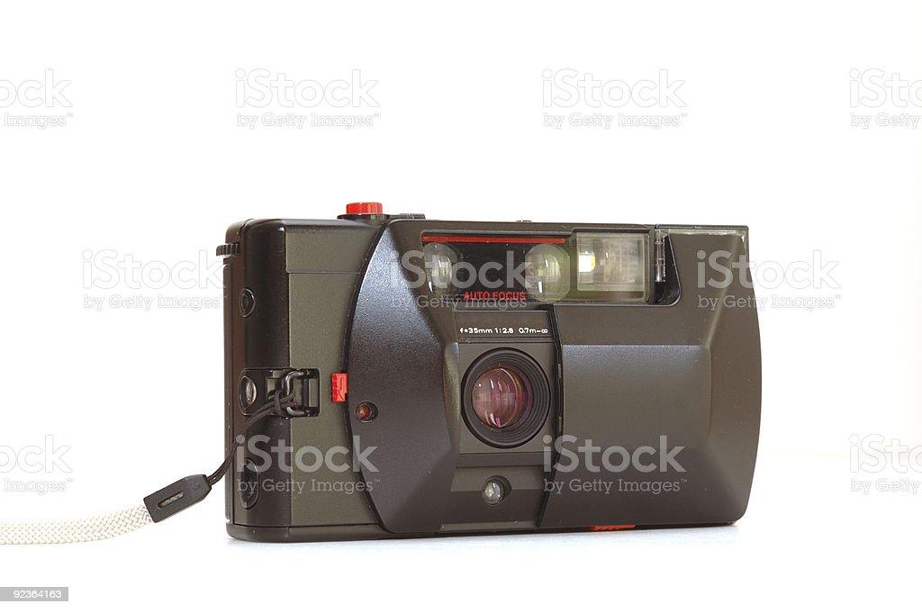 isolated point & shoot camera royalty-free stock photo